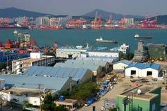 przemysłowy port Obrazy Stock