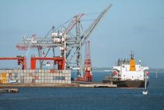 przemysłowy portowy morze obrazy royalty free