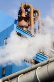 przemysłowy rurociągowy system fotografia stock