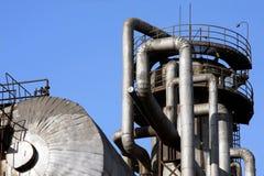 przemysłowy rurociągowy system obraz stock