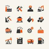 Przemysłowy sieci ikony set Obrazy Royalty Free