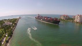 Przemysłowy statku widok z lotu ptaka zbiory