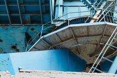 Przemysłowy stocznia żuraw w Moskwa, Rosja Zdjęcie Royalty Free