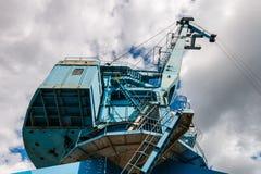 Przemysłowy stocznia żuraw w Moskwa, Rosja Fotografia Royalty Free