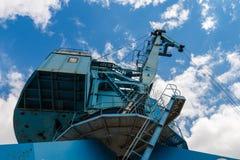 Przemysłowy stocznia żuraw w Moskwa, Rosja Obraz Royalty Free
