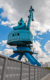 Przemysłowy stocznia żuraw w Moskwa, Rosja Zdjęcie Stock