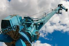 Przemysłowy stocznia żuraw w Moskwa, Rosja Zdjęcia Royalty Free