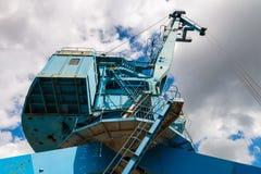 Przemysłowy stocznia żuraw w Moskwa, Rosja Zdjęcia Stock