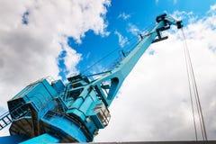 Przemysłowy stocznia żuraw w Moskwa, Rosja Fotografia Stock