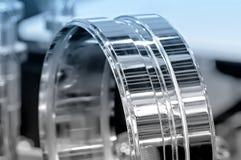 Przemysłowy szczegół w postaci pierścionku Błękitny tonowanie Fotografia Stock