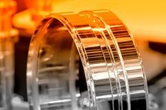 Przemysłowy szczegół w postaci pierścionku Czerwony tonowanie Zdjęcie Stock
