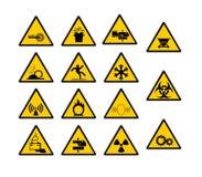 przemysłowy szyldowy ostrzeżenie Zdjęcia Royalty Free