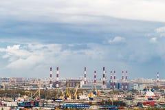 Przemysłowy teren w mieście Zdjęcia Stock