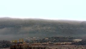 Przemysłowy teren z dymem Timelapse zdjęcie wideo