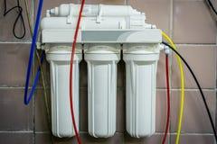 Przemysłowy wodny filtr fotografia stock