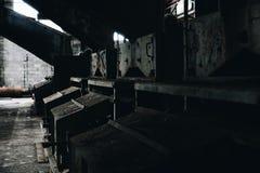 Przemysłowy wyposażenie - Podpalany Stan Odprasowywający Firma Żadny 7 kopalnia - Adirondack g?ry, Nowy Jork obraz stock