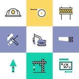 Przemysłu budowlanego piktograma ikony ustawiać royalty ilustracja