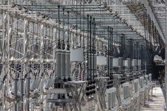 Przemysłu energetycznego drutowania bałamutny tło Fotografia Royalty Free