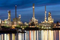przemysłu nafciana zakład petrochemiczny rafineria Obraz Stock
