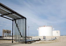 przemysłu nafciana zakład petrochemiczny rafineria Zdjęcia Royalty Free
