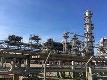 przemysłu nafciana zakład petrochemiczny rafineria Fotografia Stock