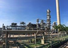 przemysłu nafciana zakład petrochemiczny rafineria Obraz Royalty Free