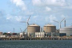 przemysłu nafciany turbina wiatr obrazy royalty free