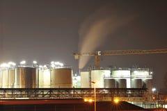 Przemysłów chemiczni zbiorniki Zdjęcia Stock