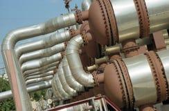 przemysł gazowy przelewanie Zdjęcie Stock