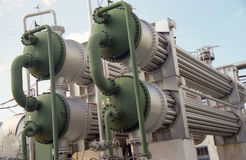 przemysł gazowy przelewanie Fotografia Royalty Free