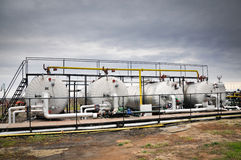 przemysł gazowy przerób ropy naftowej Obrazy Stock