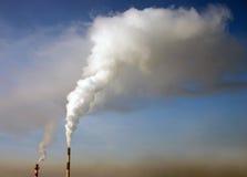 przemysłowa atmosferyczna emisja Zdjęcia Royalty Free