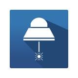 Przemysłowa lampowa ikona Zdjęcia Royalty Free