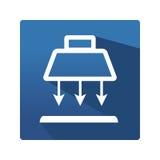 Przemysłowa lampowa ikona Obraz Stock