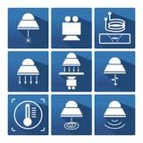 Przemysłowa lampowa ikona Obrazy Royalty Free