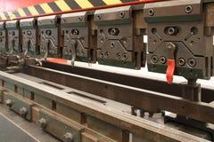 Przemysłowa metalu falcowania maszyna Zdjęcia Stock