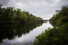Przemysłowa rzeka Zdjęcia Royalty Free