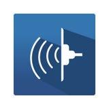 Przemysłowa ultrasonic ikona Zdjęcie Stock