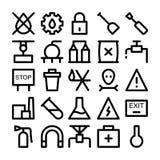 Przemysłowe Barwione Wektorowe ikony 6 Zdjęcia Royalty Free