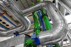 Przemysłowe drymby w termicznej elektrowni Obraz Royalty Free