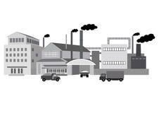 Przemysłowi budynki fabryczni Zdjęcia Stock