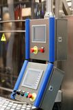 Przemysłowi pulpit operatora z ekranami dotykowymi fotografia stock