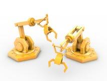 Przemysłowi roboty ilustracji