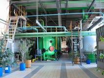 Przemysłowi zbiorniki, maszyneria, drymby, tubki Zdjęcia Royalty Free