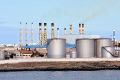 Przemysłowy budynek w porcie Zdjęcia Stock
