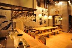 Przemysłowy loft baru styl Obrazy Stock