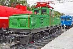 Przemysłowy lokomotoryczny typ II-KP-2A Novosibirsk muzeum railw Obrazy Stock