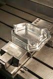 Przemysłowy metal foremki kostka do gry. Metalworking. Zdjęcie Stock