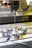 Przemysłowy metalu chucka kostka do gry, foremka sensoring/ Metalworking i mech Zdjęcia Royalty Free