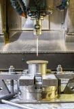 Przemysłowy metalu chucka kostka do gry, foremka sensoring/ Metalworking i mech Zdjęcie Stock